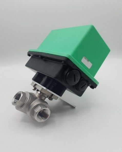 Actuated 3 Way Ball Valve